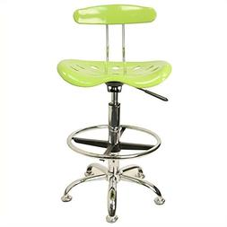 Vibrant Drafting Stool with Tractor Seat