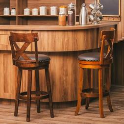1x Bar Stools 29'' Height Swivel Pub Bistro Dining Chair Uph