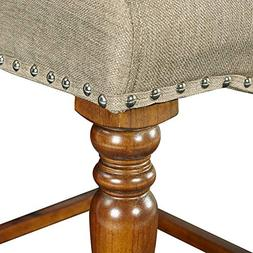 Linon Willow Counter Stool in Brown