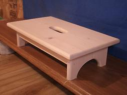 """Wooden step stool, Rustic 4"""" step stool unfinished with hand"""