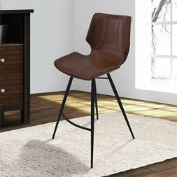 """Armen Living Zurich 26"""" Counter Stool in Vintage Coffee"""